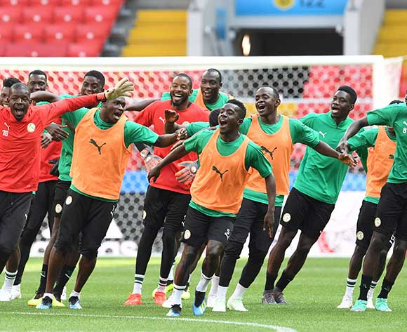 Senegal's players dance during a training session in the Spartak stadium Moscow, Russia, 18 June 2018. Senegal will face Poland in their FIFA World Cup 2018 Group H preliminary round soccer match on 19 June 2018.  EPA/Facundo Arrizabalaga