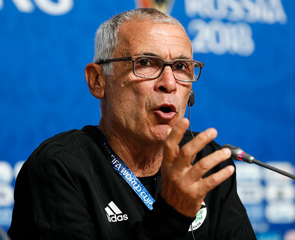 Egypt national soccer team head coach Hector Cuper attends a press conference prior to a training session in St.Petersburg, Russia, 18 June 2018. Egypt will face Russia in the FIFA World Cup 2018 Group A preliminary round soccer match on 19 June 2018.  EPA/Etienne Laurent