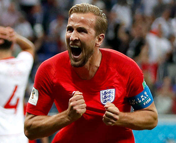 Harry Kane of England celebrates after scoring the winning goal during the FIFA World Cup 2018 group G preliminary round soccer match between Tunisia and England in Volgograd, Russia, 18 June 2018.EPA/Francis R Malasig