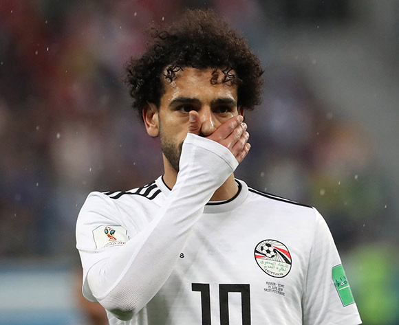 Mohamed Salah of Egypt reacts after the FIFA World Cup 2018 group A preliminary round soccer match between Russia and Egypt in St.Petersburg, Russia, 19 June 2018. Russia won the game 3-1. EPA/Georgi Licovski