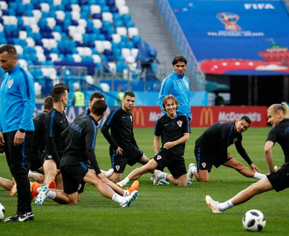 Croatia's players attend a training session in Nihzny Novgorod, Russia, 20 June 2018. Croatia will face Argentina in the FIFA World Cup 2018 on 21 June 2018.  EPA/Ritchie B Tongo