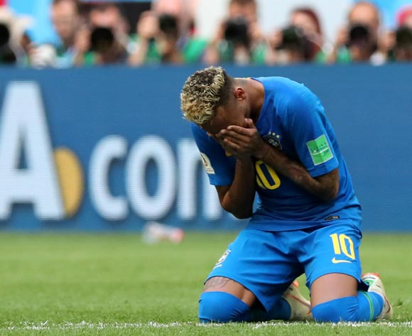 Neymar of Brazil reacts after winning the FIFA World Cup 2018 group E preliminary round soccer match between Brazil and Costa Rica in St.Petersburg, Russia, 22 June 2018. EPA/Georgi Licovski