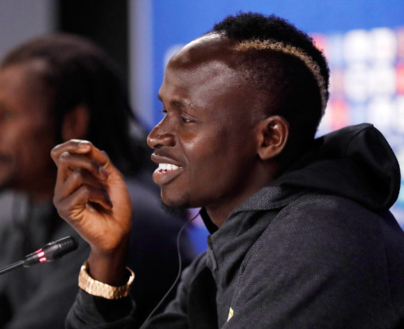 Senegal player Sadio Mane during a press conference at Ekaterinburg Arena in Ekaterinburg, Russia, 23 June 2018. Senegal will face Japan in the FIFA World Cup 2018 preliminary round on 24 June 2018. EPA/Francis R Malasig