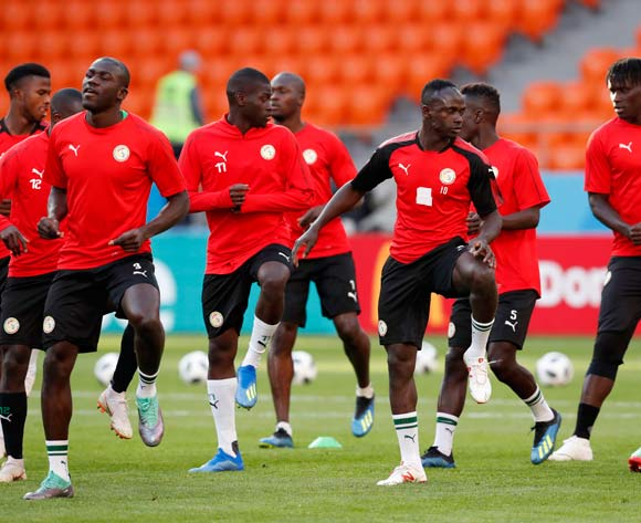 Players of Senegal during the training session at Central Stadium in Ekaterinburg, Russia, 23 June 2018. Senegal  will face Japan in the match of the FIFA World Cup 2018, the group H, preliminary round soccer match on 24 June 2018. EPA/Atef Safadi