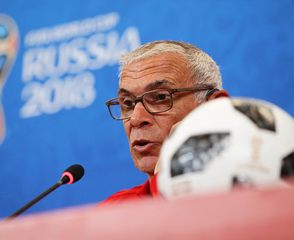 Egypt's head coach Hector Cuper speaks during a press conference in Volgograd, Russia, 24 June 2018. Egypt will face Saudi Arabia in the FIFA World Cup 2018 group A preliminary round soccer match on 25 June 2018.