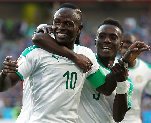 Sadio Mane (L) of Senegal celebrates with teammates after scoring the opening goal during the FIFA World Cup 2018 group H preliminary round soccer match between Japan and Senegal in Ekaterinburg, Russia, 24 June 2018. EPA/Francis R Malasig