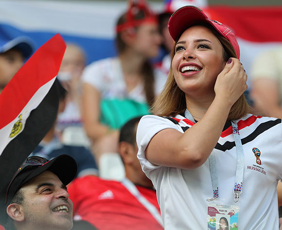 Supporters of Egypt before the FIFA World Cup 2018 group A preliminary round soccer match between Saudi Arabia and Egypt in Volgograd, Russia, 25 June 2018. EPA/Zurab Kurtsikidze