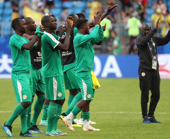 Players of Senegal react after the FIFA World Cup 2018 group H preliminary round soccer match between Senegal and Colombia in Samara, Russia, 28 June 2018.  EPA/Tatyana Zenkovich