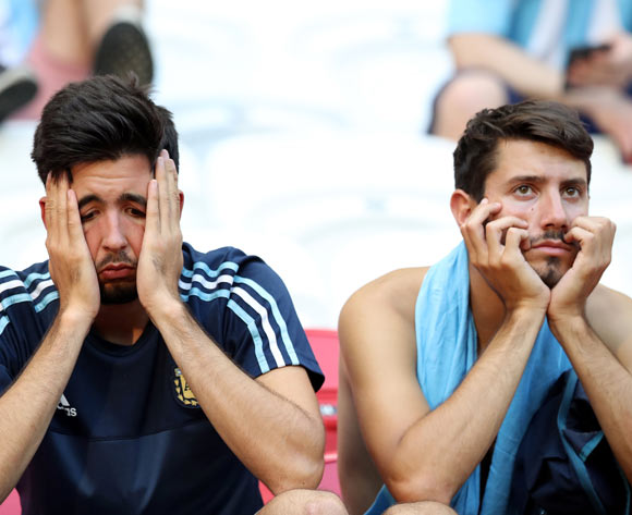 Dejected fans of Argentina after the FIFA World Cup 2018 round of 16 soccer match between France and Argentina in Kazan, Russia, 30 June 2018. France won 4-3. EPA/Mahmoud Khaled