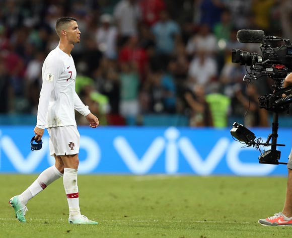 Cristiano Ronaldo of Portugal reacts after the FIFA World Cup 2018 round of 16 soccer match between Uruguay and Portugal in Sochi, Russia, 30 June 2018. EPA/Friedmann Vogel
