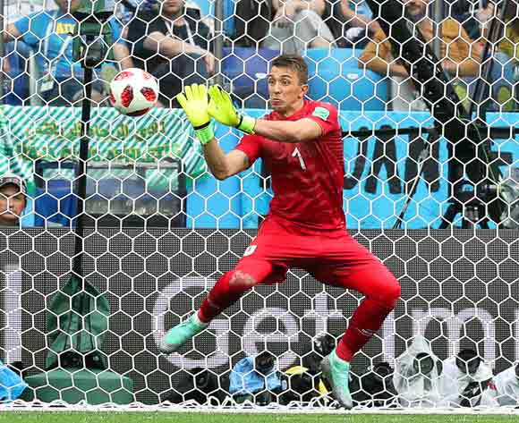 Uruguay's goalkeeper Fernando Muslera concedes Uruguay's 2-0 lead during the FIFA World Cup 2018 quarter final soccer match between Uruguay and France in Nizhny Novgorod, Russia, 06 July 2018. EPA/Vassil Donev