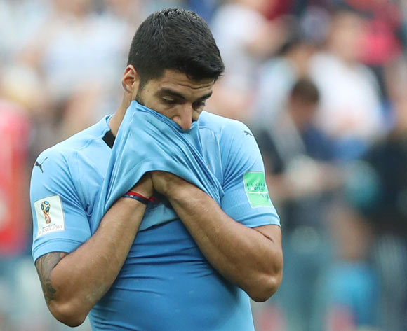 Luis Suarez of Uruguay reacts after the FIFA World Cup 2018 quarter final soccer match between Uruguay and France in Nizhny Novgorod, Russia, 06 July 2018. Uruguay lost the match 0-2. EPA/Tolga Boziglu