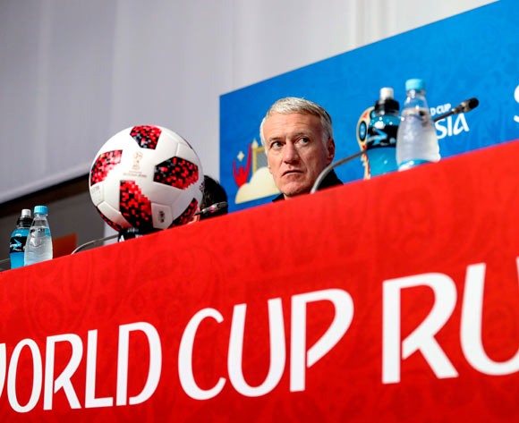 France's head coach Didier Deschamps during a press conference of the French national team in St.Petersburg, Russia, 09 July 2018. France will face Belgium in a FIFA World Cup 2018 semi final match on 10 July. EPA/Georgi Licovski