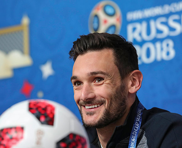 France's goalkeeper Hugo Lloris attends a press conference of the French national team in St.Petersburg, Russia, 09 July 2018. France will face Belgium in a FIFA World Cup 2018 semi final match on 10 July.  EPA/Georgi Licovski