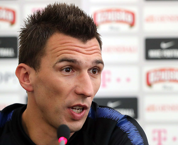 Croatia's player Mario Mandzukic during a press conference in Moscow, Russia, 09 July 2018. Croatia will face England in FIFA World Cup 2018 semi final on 11 July 2018 in Moscow.  EPA/Abedin Taherkenareh