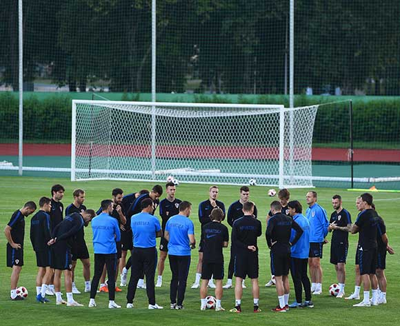 Players of Croatia attend their team's training session in Moscow, Russia, 09 July 2018. Croatia will face England in their FIFA World Cup 2018 semi final soccer match on 11 July 2018 in Moscow. EPA/Facundo Arrizabalaga