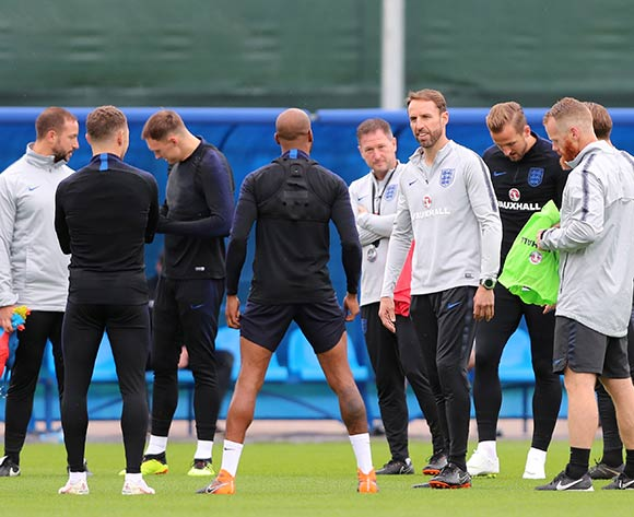 England's head coach Gareth Southgate supervises a training session at the Spartak Zelenogorsk Stadium, Zelenogorsk, Russia 10 July 2018. England will face Croatia on 11 July in in the semi final match of the 2018 FIFA World Cup in Russia.  EPA/Tolga Bozoglu