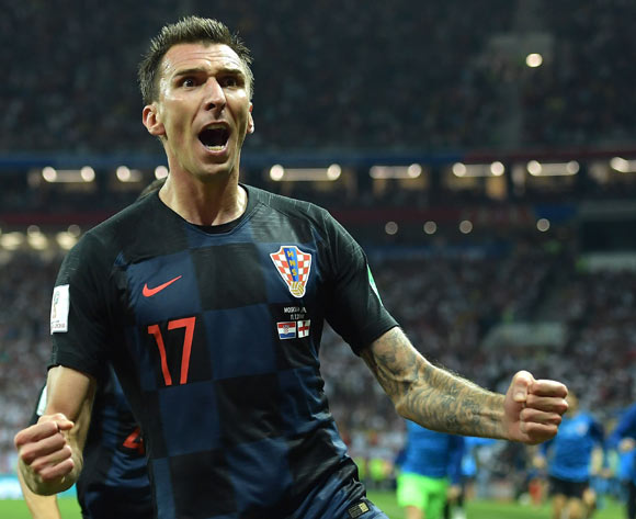 Mario Mandzukic of Croatia celebrates scoring the 2-1 lead during the FIFA World Cup 2018 semi final soccer match between Croatia and England in Moscow, Russia, 11 July 2018. EPA/Peter Powell