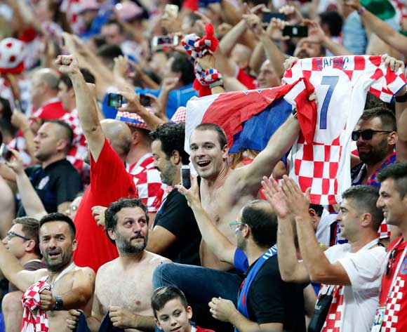 Fans of Croatia celebrate after their team won the FIFA World Cup 2018 semi final soccer match between Croatia and England in Moscow, Russia, 11 July 2018. EPA/Sergei Chirikov