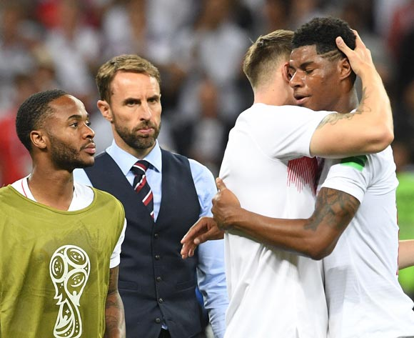 Marcus Rashford (R) of England reacts after the FIFA World Cup 2018 semi final soccer match between Croatia and England in Moscow, Russia, 11 July 2018. England lost the match 1-2. EPA/Facundo Arrizabalaga