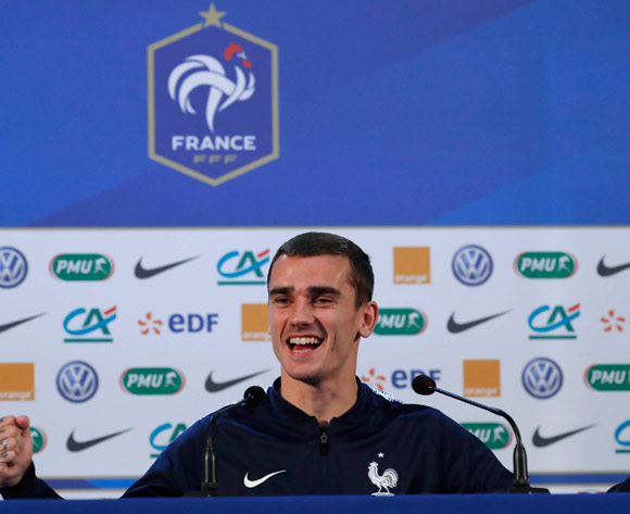 France forward Antoine Griezmann during a press conference in the New Jerusalem Museum in Istra, outside Moscow, Russia, 13 July 2018. France will face Croatia in the final of the FIFA World Cup 2018 on 15 July. EPA/Sergei Ilnitsky