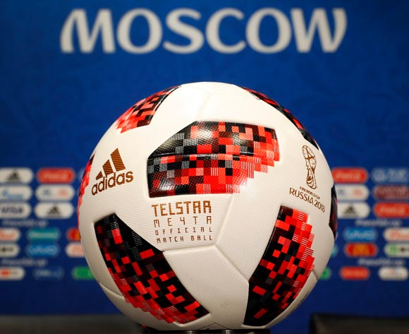The official football Telstar of the FIFA World Cup 2018 is on display during the FIFA President Gianni Infantino press conference in Moscow, Russia, 13 July 2018. France will face Croatia in the FIFA World Cup 2018 final on 15 July. EPA/Felipe Trueba
