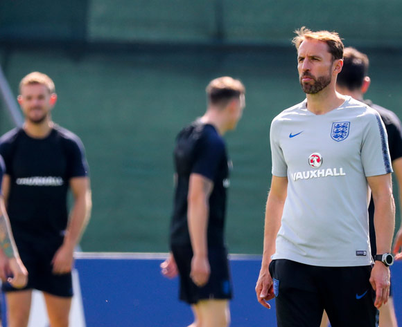 England's head coach Gareth Southgate during a training session at the Spartak Zelenogorsk Stadium, Zelenogorsk, Russia 13 July 2018. England will face Belgium on 14 of July in Saint Petersburg, in their match for third place of the 2018 FIFA World Cup in Russia. EPA/Georgi Licovski
