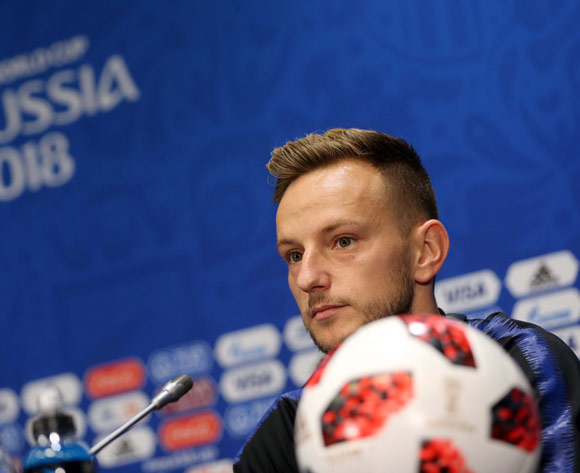 Croatia's player Ivan Rakitic attends a press conference in Moscow, Russia, 13 July 2018. Croatia will face France in the FIFA World Cup 2018 final on 15 July 2018 in Moscow.  EPA/Abedin Taherkenareh