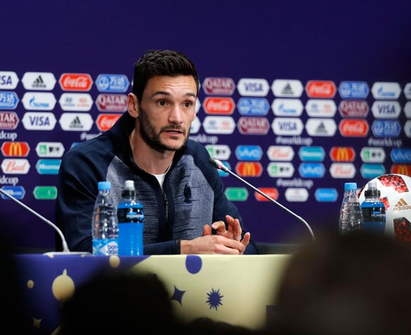 French captain and goalkeeper Hugo Lloris attends a press conference in Moscow, Russia, 14 July 2018. France will face Croatia in the FIFA World Cup 2018 final on 15 July. EPA/Felipe Trueba