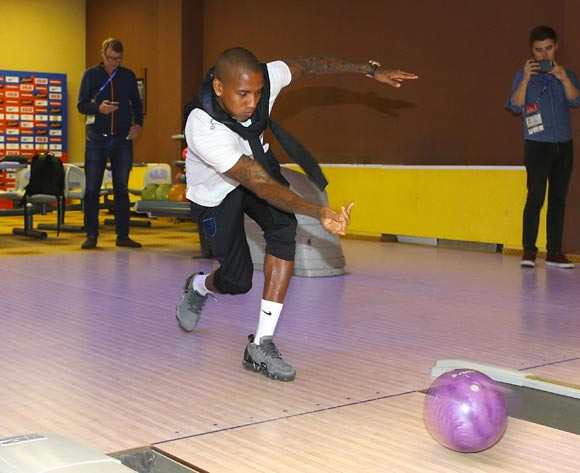 England's Ashley Young bowling during the media access at Repino Cronwell Park. PA Images/Owen Humphreys